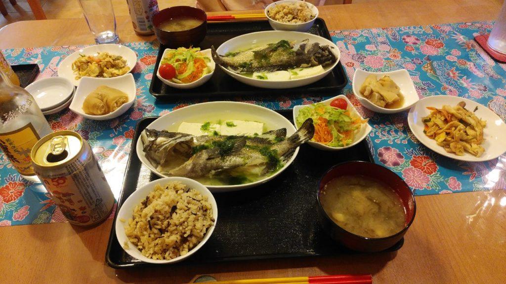 パイヌシマコーラルリゾートフィッシュの夕飯
