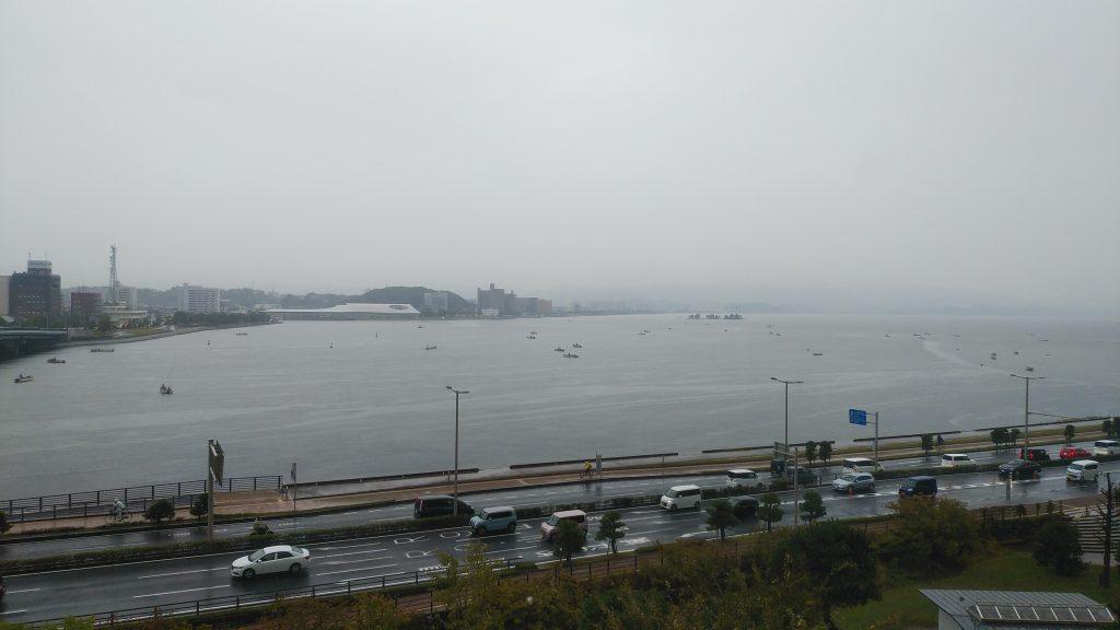 松江ニューアーバンホテル本館和室からの宍道湖の眺め