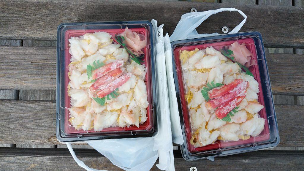 境港かに食堂のカニ寿司弁当